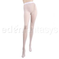 Rhinestone backseam pantyhose