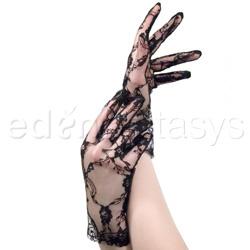 Wrist length lace gloves