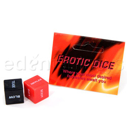 Erotic dice - adult game