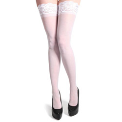 Fever hold up sheer stockings with lace tops