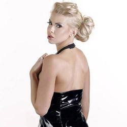 Mini dress - Black zip front halterneck mini dress - view #5