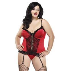 Precious Gems corset set queen size - corset and panty set