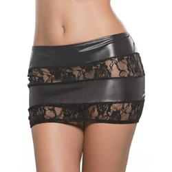 Fetishwear wet look mini skirt
