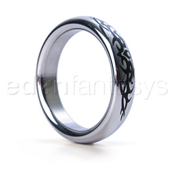 Tribal stainless steel cock ring