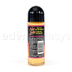 Lubricant - Sensuous lickable warming lotion - view #2