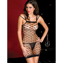 Diamond net strapped mini dress