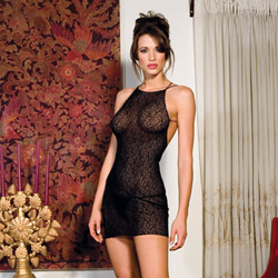 Lace chemise with strappy back