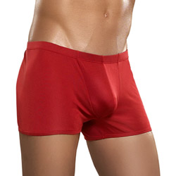 Red knit silk low rise short - shorts