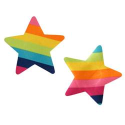 Pasties - Rainbow stars - view #1