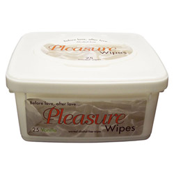 Pleasure wipes tub