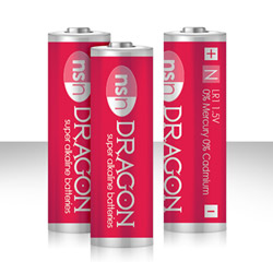 DRAGON -  alkaline batteries N - DVD
