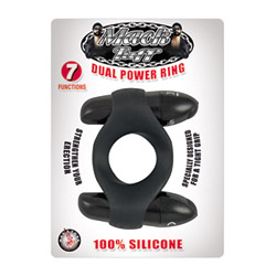Double bullets penis ring - Mack Tuff dual power ring - view #2