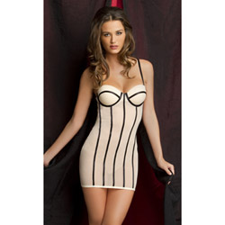 Tres Sexy nude chemise and g-string - babydoll and panty set