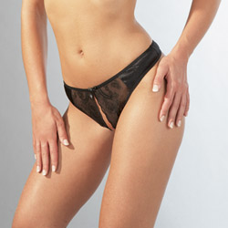 Open crotch string thong - crotchless panty