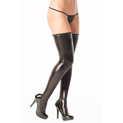 Wet look stockings - hosiery