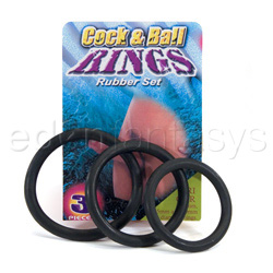 Cock & ball rubber rings - sex toy