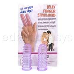 Finger massager - Jelly finger stim - purple - view #3