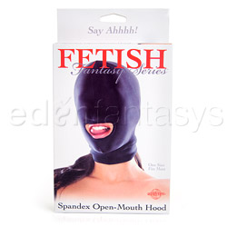 Spandex open-mouth hood - headgear