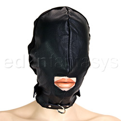 Leather hood with leash