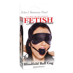 Mouth gag - Blindfold ball gag - view #1