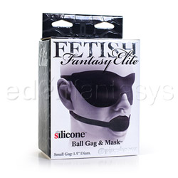 Mouth gag - Fetish Fantasy Elite small ball gag and mask - view #4