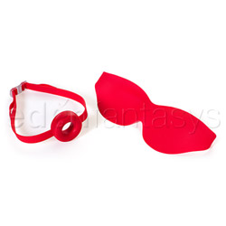 Fetish Fantasy Elite large open-mouth gag and mask - headgear