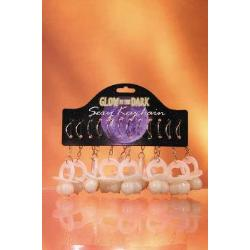 Boobie pacifier keychain glow in the dark 12 pieces with display - DVD