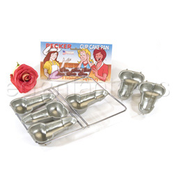 Pecker cup cake pan - sex toy party ware
