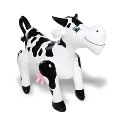 Elsie blow up cow - Muñecas de amor en forma de animal
