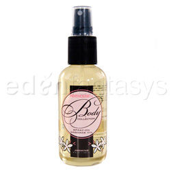 Body collection spray on massage oil