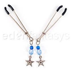 Fresh beaded nipple clamps - sex toy