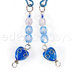 Nipple clamps - Fresh heart beaded nipple clamps - view #2