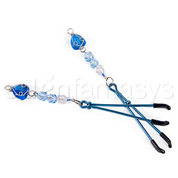 Nipple clamps - Fresh heart beaded nipple clamps - view #4