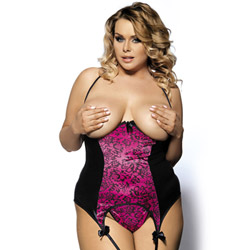 Wild cat open bust bustier - bustier and panty set