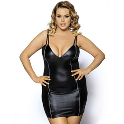 Queen of spades plus size - mini dress