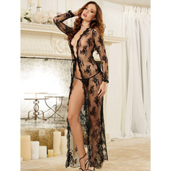 Lace maxi robe - peignoir