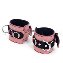 Wrist cuffs - Pretty in pink wrist cuffs - view #1