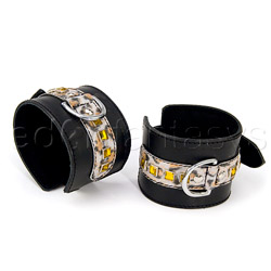 Leopard bling cuffs - restraints