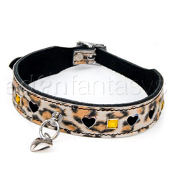 Leopard bling collar - collar