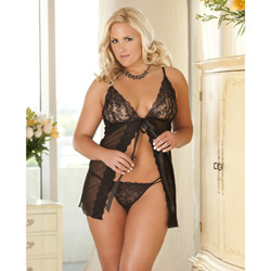 Flyaway babydoll and g-string set - babydoll and panty set