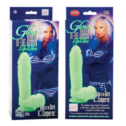 Realistic dildo  - Glow in the dark emperor - view #3