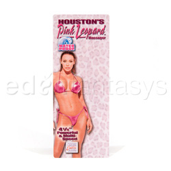 Traditional vibrator - Houston's pink leopard - view #2