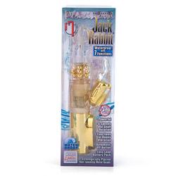 Rabbit vibrator with rotating beads - Platinum jack rabbit - view #6