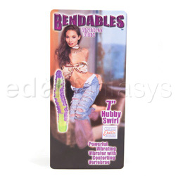Traditional vibrator - Bendables nubby swirl - view #3