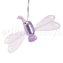 Silicone dragonfly - strap-on vibrator