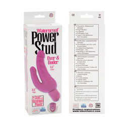 Double penetration vibrator - Over and under power stud - view #3