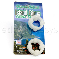 Silicone island ring-glow - cock ring