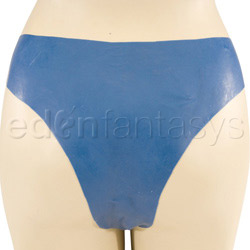 Panty harness - Blue latex slip on tool - view #3