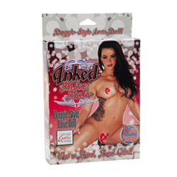 Inked biker babe doggie style love doll - female love doll