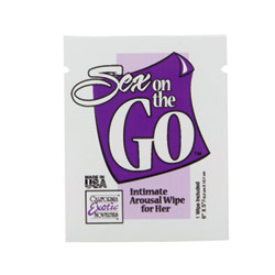 Sex on the go arousal wipes for her